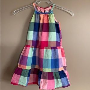 Baby Gap Plaid Patchwork Tank Dress Size5